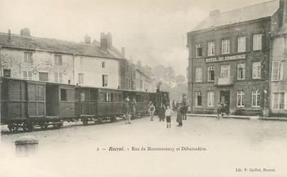 """CPA FRANCE 08 """"Rocroi, rue de Montmorency et débarcadère"""""""