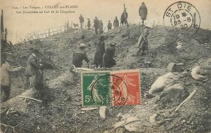 """/ CPA FRANCE 88 """"Celles sur Plaine, les tranchées au col de la Chapelote"""""""