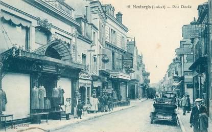 "/ CPA FRANCE 45 ""Montargis, rue Dorée """