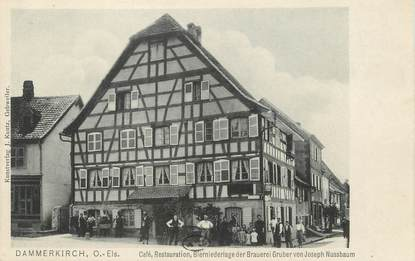 "/ CPA FRANCE 68 ""Dannemarie, café restauration"""