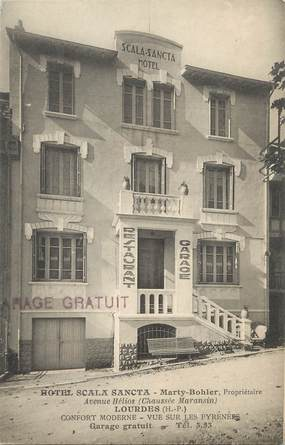 "/ CPA FRANCE 65 ""Lourdes, Hôtel Scala Sancta"""