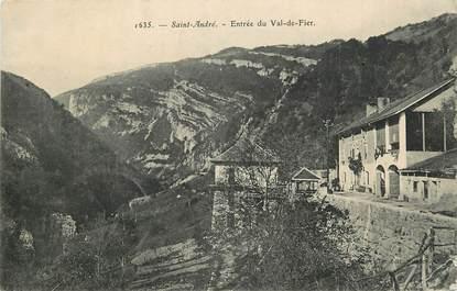 """CPA FRANCE 74 """"Saint André, entrée du Val de Fier"""""""