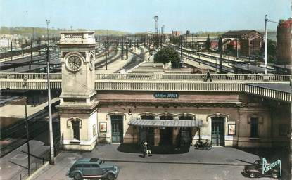 "/ CPSM FRANCE 91 ""Juvisy sur Orge, la gare"""
