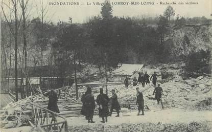 """/ CPA FRANCE 77 """"Le village de Loroy sur Loing, recherche des victimes"""" / INONDATIONS"""