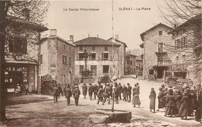 """CPA FRANCE 15 """"Glénat, la place"""""""
