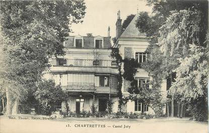 """/ CPA FRANCE 76 """"Chartrettes, Castel Joly"""""""