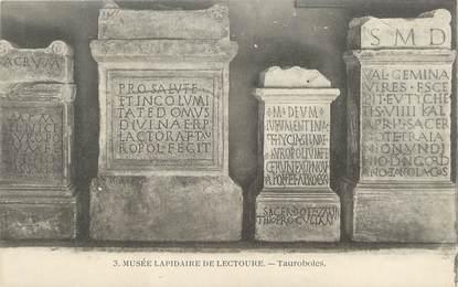 """/ CPA FRANCE 32 """"Lectoure, musée Lapidaire, Tauroboles"""""""