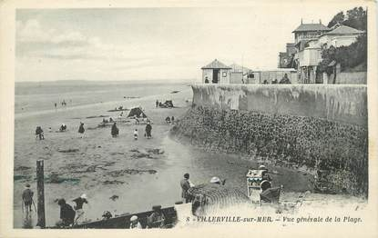 """/ CPA FRANCE 14 """"Villerville sur Mer, vue générale de la plage"""""""