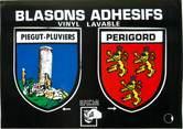 "24 Dordogne / CPM FRANCE 24 ""Piegut Pluviers"" / BLASON ADHESIF"
