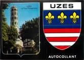 "30 Gard / CPM FRANCE 30 ""Uzès"" / BLASON ADHESIF"