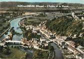 """55 Meuse / CPSM FRANCE 55 """"Dun sur Meuse, l'église et la Meuse """""""
