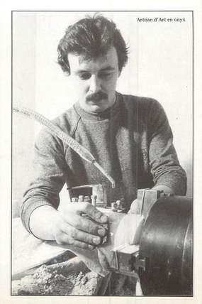"/ CPM FRANCE 56 ""Fête Artisanale de Caro 5 juillet 1981, nr 116, Marmara, un artisan en Onyx"""