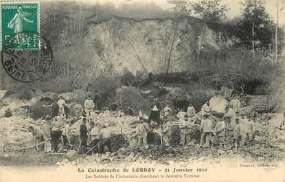 """CPA FRANCE 77 """"Lorroy, catastrophe 21 janvier 1910, les soldats de l'Infanterie cherchant les dernières victimes"""""""