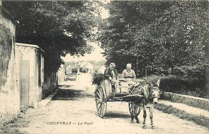 """CPA FRANCE 77 """"Coupvray"""" / Attelage ANE"""