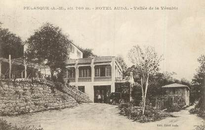 "/ CPA FRANCE 06 ""Pélasque, hôtel Auda"""