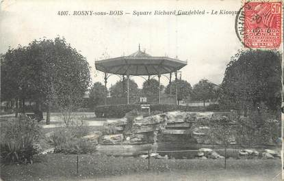 "/ CPA FRANCE 93 ""Rosny sous Bois, square Richard Gardebeld, le kiosque"""