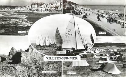 """/ CPSM FRANCE 14 """"Villers sur Mer"""" / BATEAU"""