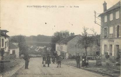 """/ CPA FRANCE 02 """"Montreuil aux Lions, la poste"""""""