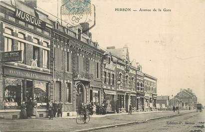 """/ CPA FRANCE 02 """"Hirson, av de la gare"""""""