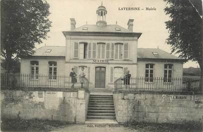 "/ CPA FRANCE 02 ""Laversine, mairie"""