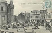 """02 Aisne / CPA FRANCE 02 """"Chauny, place de l'hôtel de ville"""""""