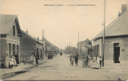 """/ CPA FRANCE 02 """"Bellicourt, route Nationale"""""""
