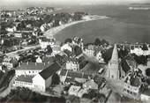 """56 Morbihan / CPSM FRANCE 56 """"Larmor plage, l'église et le centre"""""""