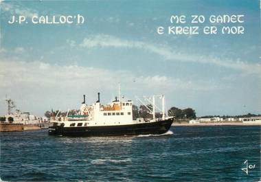 """/ CPSM FRANCE 56 """"Lorient Groix"""" / BATEAU"""