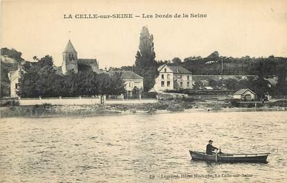 """CPA FRANCE 77 """"La Celle sur Seine, les bords de la Seine"""""""
