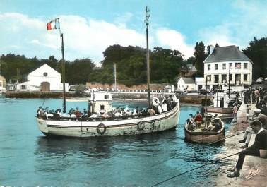 """/ CPSM FRANCE 56 """"Port Navalo, l'embarcadère"""" / BATEAU"""