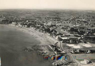 """/ CPSM FRANCE 56 """"Presqu'ile de Quiberon, vue aérienne de la plage"""""""