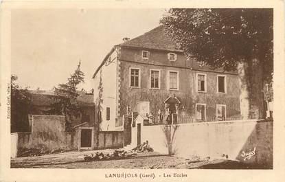 """CPA FRANCE 30  """"Lanuéjols, Les Ecoles"""""""