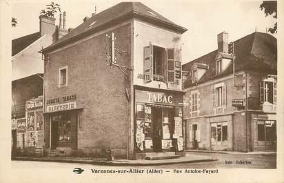 "/ CPA FRANCE 03 ""Varennes sur Allier, rue Antoine Fayard"""