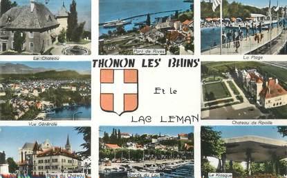 """/ CPSM FRANCE 74 """"Thonon Les Bains, et le lac Léman"""""""