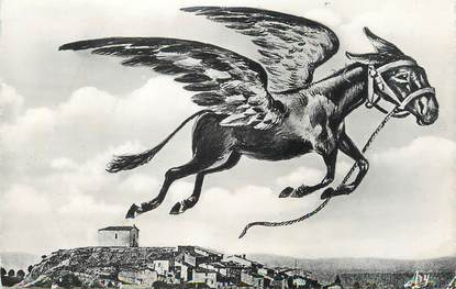 """/ CPSM FRANCE 83 """"Gonfaron, l'âne légendaire dans son vol"""""""