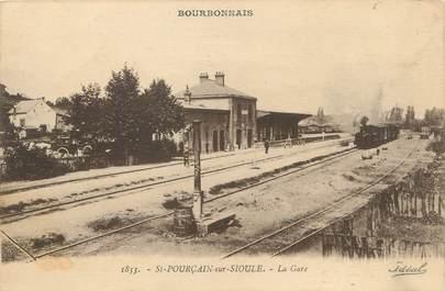 """/ CPA FRANCE 03 """"Saint Pourçain sur Sioule, la gare"""""""