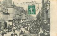 """03 Allier / CPA FRANCE 03 """"Montluçon, rue de la république, un jour de marché"""""""