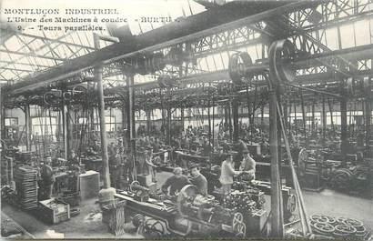 """/ CPA FRANCE 03 """"Montluçon, l'usine des machines à coudre Hurtu"""""""