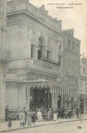 """/ CPA FRANCE 03 """"Montluçon, café riche """""""