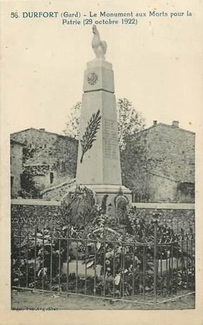 "CPA FRANCE 30  ""Durfort, monument aux morts"""