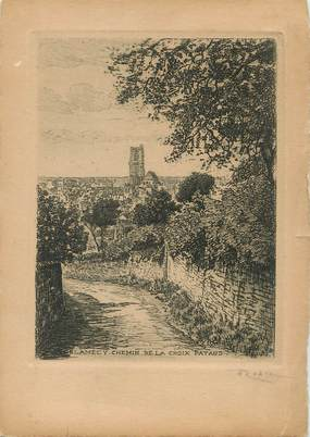 """/ CPSM FRANCE 58 """"Clamecy"""" / EAU FORTE"""
