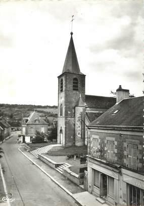 """/ CPSM FRANCE 58 """"Chateauneuf Val de Bargis, l'église"""""""