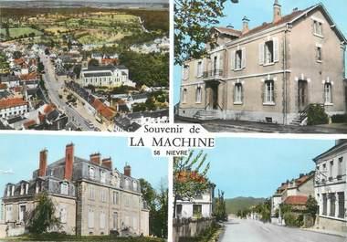 """/ CPSM FRANCE 58 """"Souvenir  de La Machine"""""""