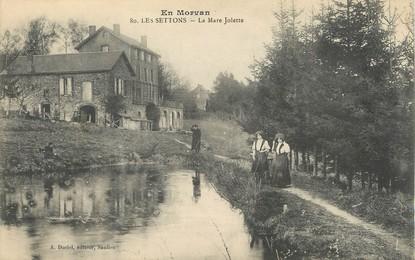 """/ CPA FRANCE 58 """"Les Settons, la Mare Jolette"""""""