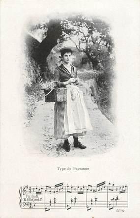 """CPA FRANCE 06 """"Type de paysanne"""" / CHANSON"""