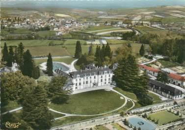 """/ CPSM FRANCE 58 """"Saint Honoré Les Bains, vue aérienne du château de la Montagne"""""""