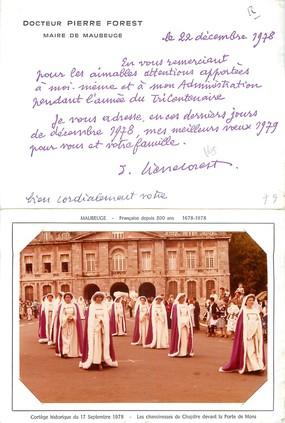 """/ PHOTO FRANCE 59 """"Maubeuge, cortège historique du 17 septembre 1978' / LIVRET"""