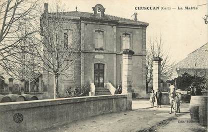 "CPA FRANCE 30  ""Chusclan, la mairie"""