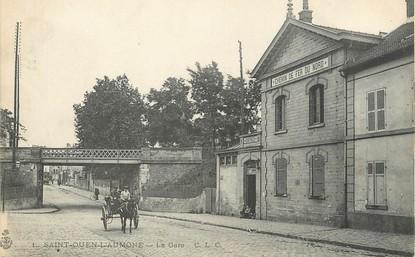"""/ CPA FRANCE 95 """"Saint Ouen l'Aumône, la gare"""""""