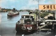 """78 Yveline / CPSM FRANCE 78 """"Conflans Sainte Honorine, Bords de Seine"""" / PENICHE"""